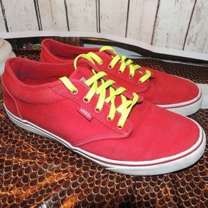 Men's size 10 red Vans